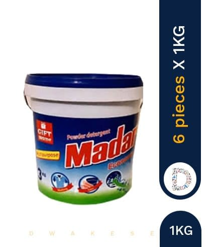 MADAR WASHING POWDER BUCKET 6 X 1KG