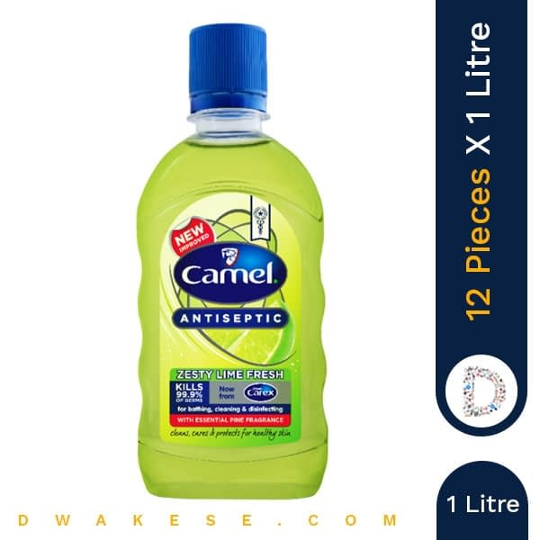 CAMEL ANTISEPTIC ZESTY LIME FRESH 1 Litre x 12 PIECES