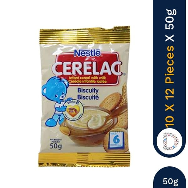 CERELAC BISCUITY 50G X 10 X 8 PIECES