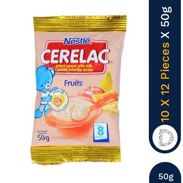 CERELAC FRUIT 50G X 10 X 12 PIECES