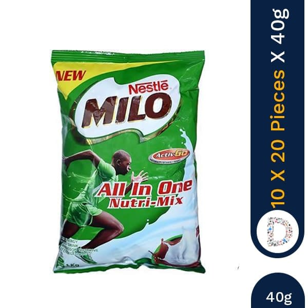 MILO ALL IN ONE NUTRIMIX 40G X 10 X 20 PIECES