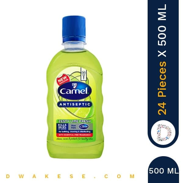 CAMEL ANTISEPTICZESTY LIME FRESH 500ml x 24 PIECES