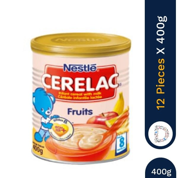 CERELAC FRUIT 400G X 12 PIECES