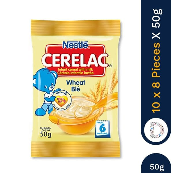 CERELAC WHEAT SACHET 50G X 10 X 8 PIECES