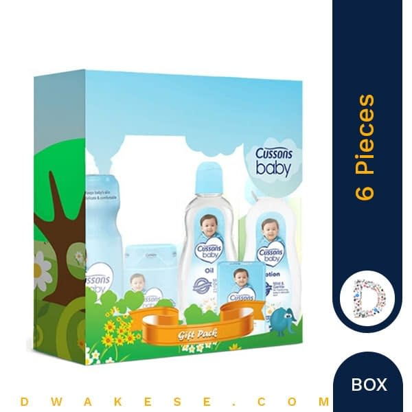 CUSSONS BABY GIFT BOX MILD & GENTLE 6 PIECES