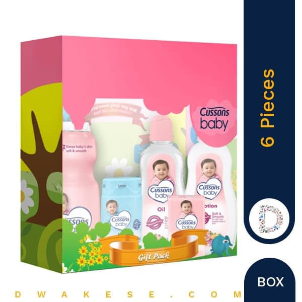CUSSONS BABY GIFT BOX SOFT & SMOOTH 6 PIECES