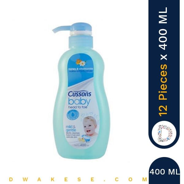 CUSSONS BABY HEAD TO TOE MILD & GENTLE 400ML x 12 PIECES