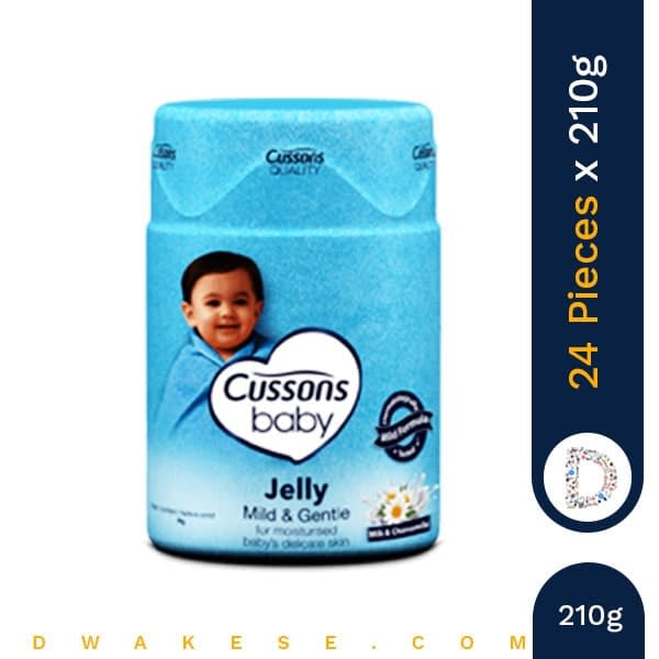 CUSSONS BABY JELLY MILD & GENTLE 210g x 24 PIECES