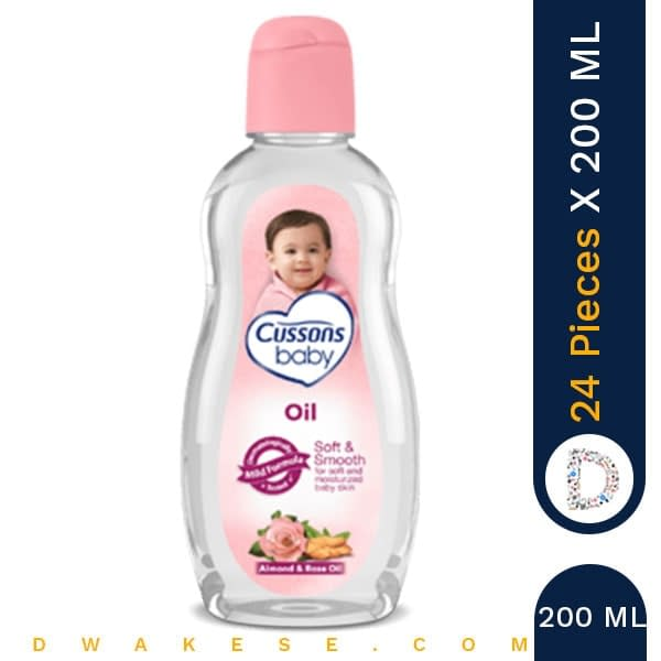 CUSSONS BABY OIL SOFT & SMOOTH 200ML x 24 PIECES
