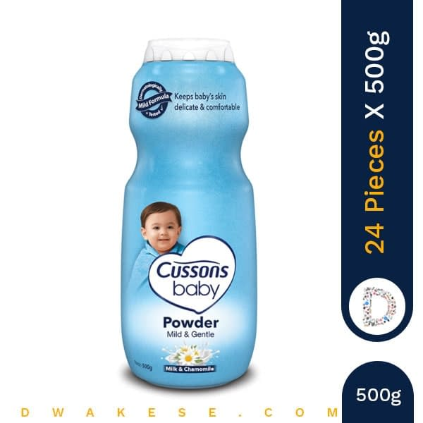 CUSSONS BABY POWDER MILD & GENTLE 500g x 24 PIECES