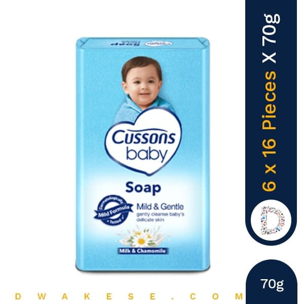 CUSSONS BABY SOAP MILD & GENTLE 70g x 6 x 16 PIECES
