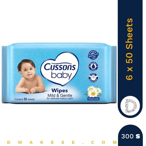 CUSSONS BABY WIPES 2+1 MILD & GENTLE 6 x 50 SHEETS