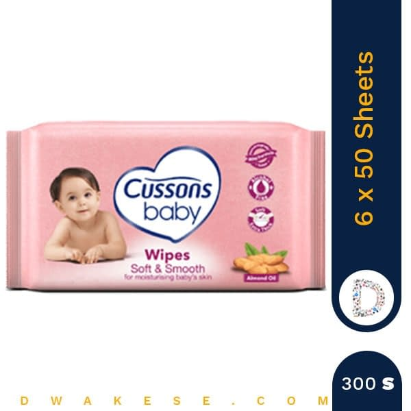 CUSSONS BABY WIPES 2+1 SOFT & SMOOTH 6 x 50 SHEETS