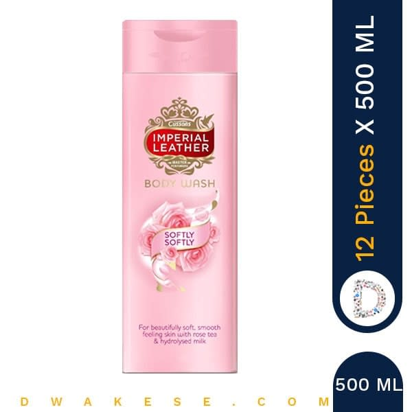IMPERIAL LEATHER BODY WASH SOFTLY SOFTLY 500ML x 12 PIECES