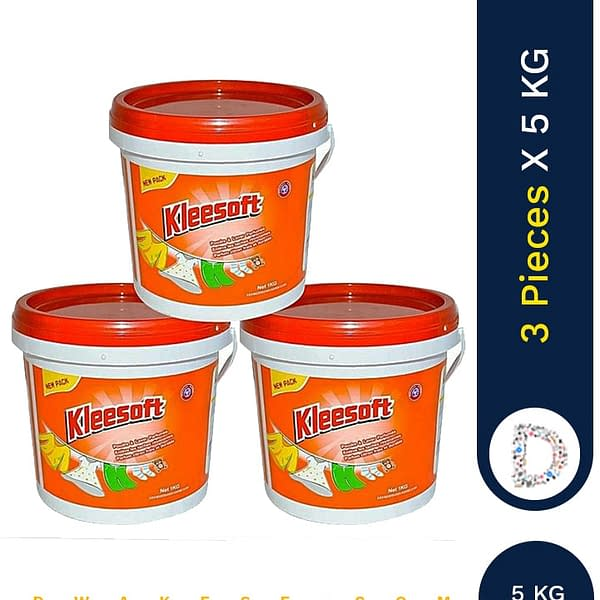 KLEESOFT WASHING POWDER BUCKET 3 X5KG