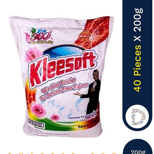 KLEESOFT WASHING POWDER 40 X 200G