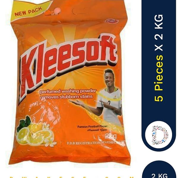 KLEESOFT WASHING POWDER 5 X 2KG SACHET