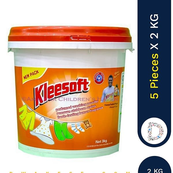 KLEESOFT WASHING POWDER 5 X 2KG BUCKET