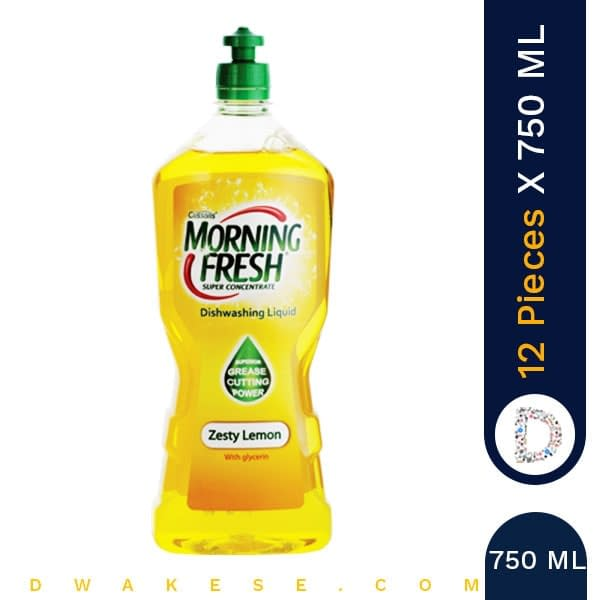 MORNING FRESH DISH WASH ZESTY 750ML x 12 PIECES