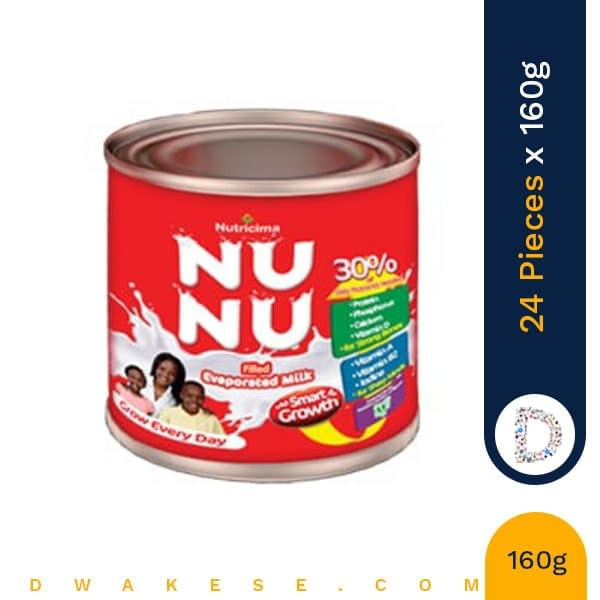 NUNU EVAPORATED MILK 160g x 24 PIECES