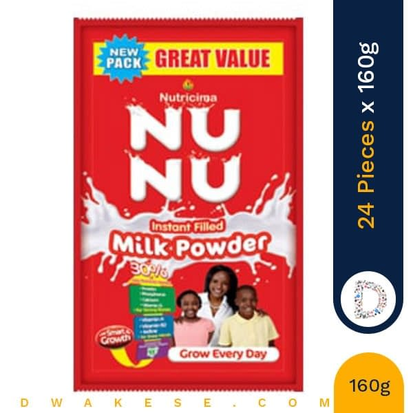 NUNU MILK POWDER 160g x 24 PIECES