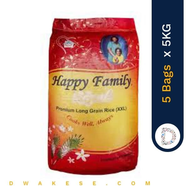 HAPPY FAMILIA RICE 5KG X 5BAGS
