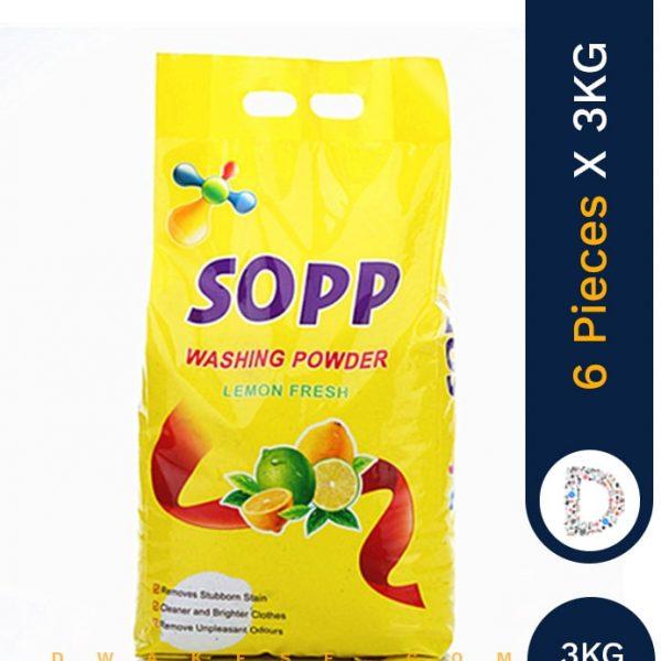 SOPP WASHING POWDER 6 X 3 KG