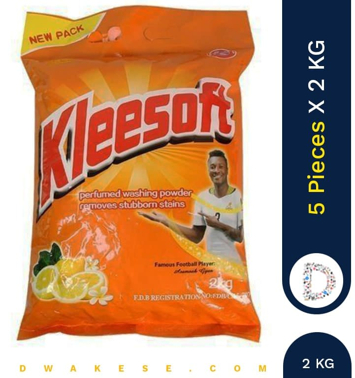 KLEESOFT WASHING POWDER 5 X 2KG SACHET