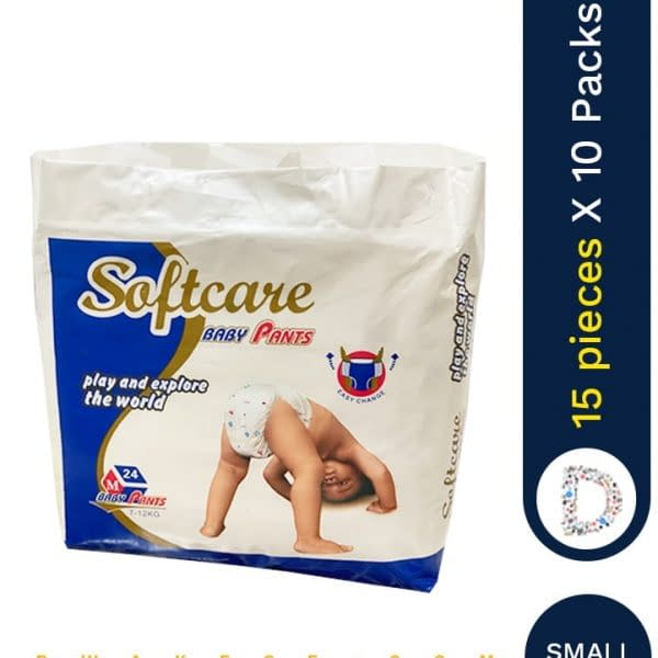 SOFT CARE DIAPERS SMALL 15 X 10 PACKS